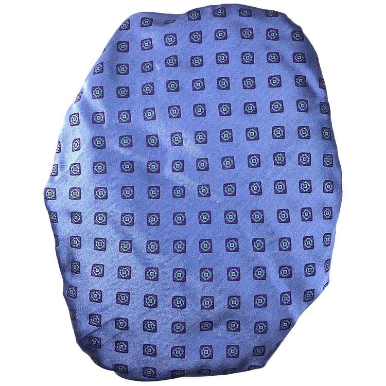 Custom Made Blue and Purple Medallion Seven Fold Silk Tie by Robert Talbott