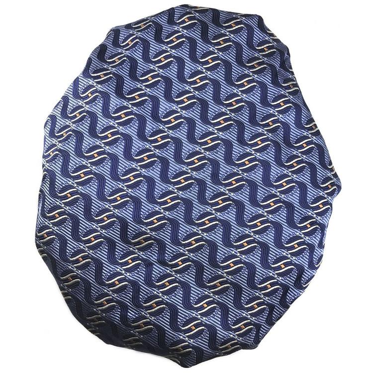 Custom Made Blue Wave Seven Fold Silk Tie by Robert Talbott