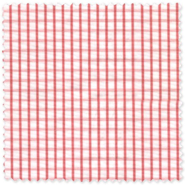 Coral Compact Graph Check Custom Dress Shirt by Gitman Brothers