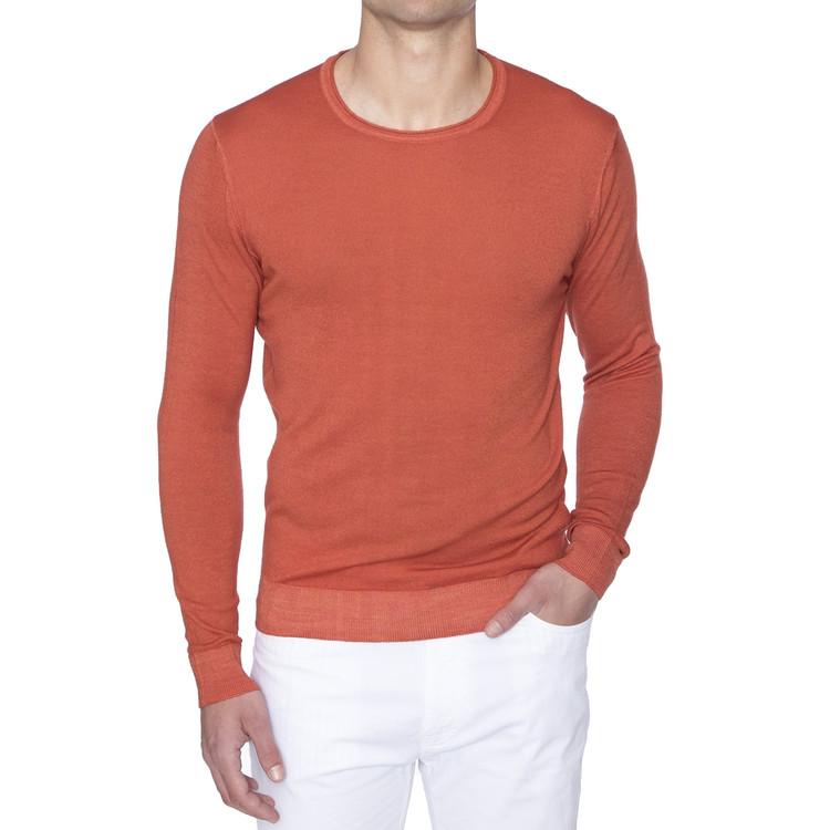 Spring 2017 'Skinner' Jersey V-Neck Sweater in Ember by Robert Talbott