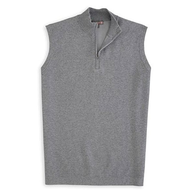 Shelby Quarter-Zip 'Crown Sport' Performance Sweater Vest in Smoke by Peter Millar