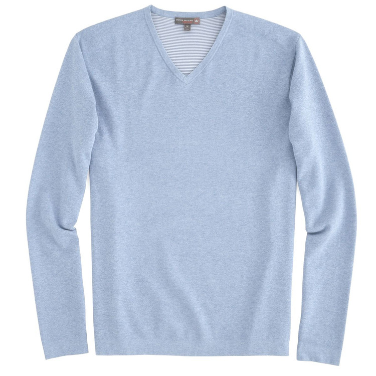 Lexington V-Neck 'Crown Sport' Performance Sweater in Cottage Blue by Peter Millar