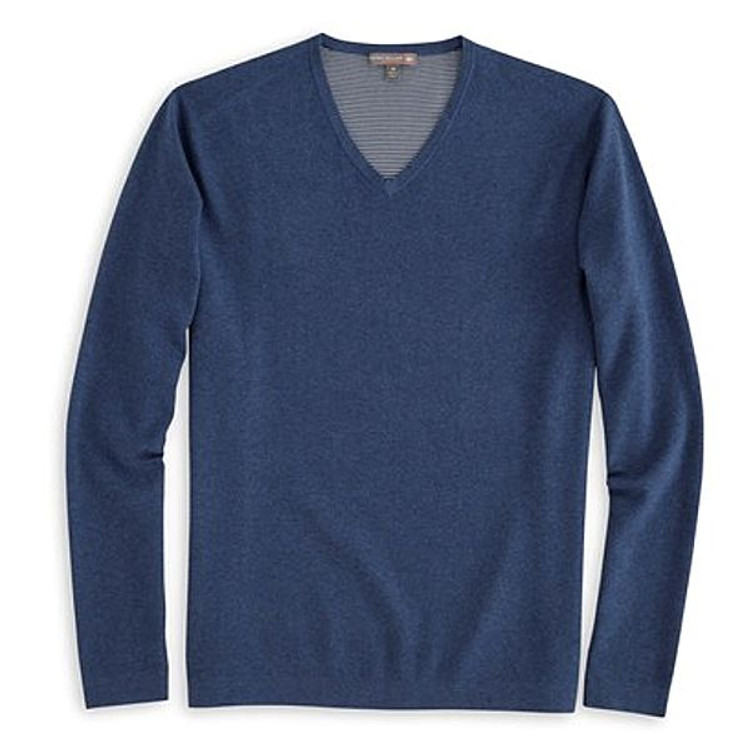 Lexington V-Neck 'Crown Sport' Performance Sweater in Midnight by Peter Millar