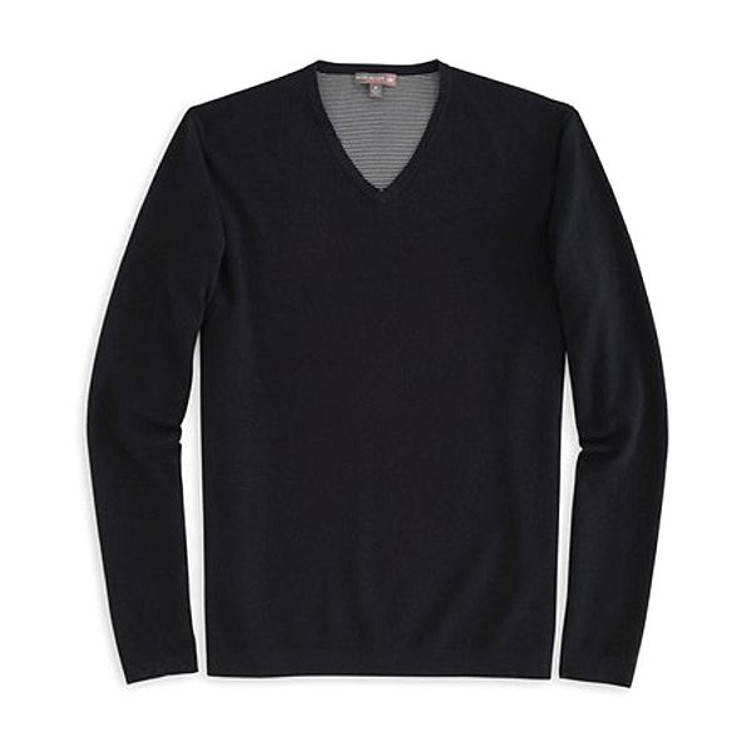 Lexington V-Neck 'Crown Sport' Performance Sweater in Black by Peter Millar
