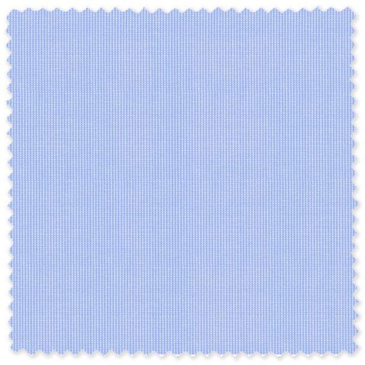 Blue Pic/Pic 80's 2-Ply Cotton Broadcloth Custom Dress Shirt by Skip Gambert