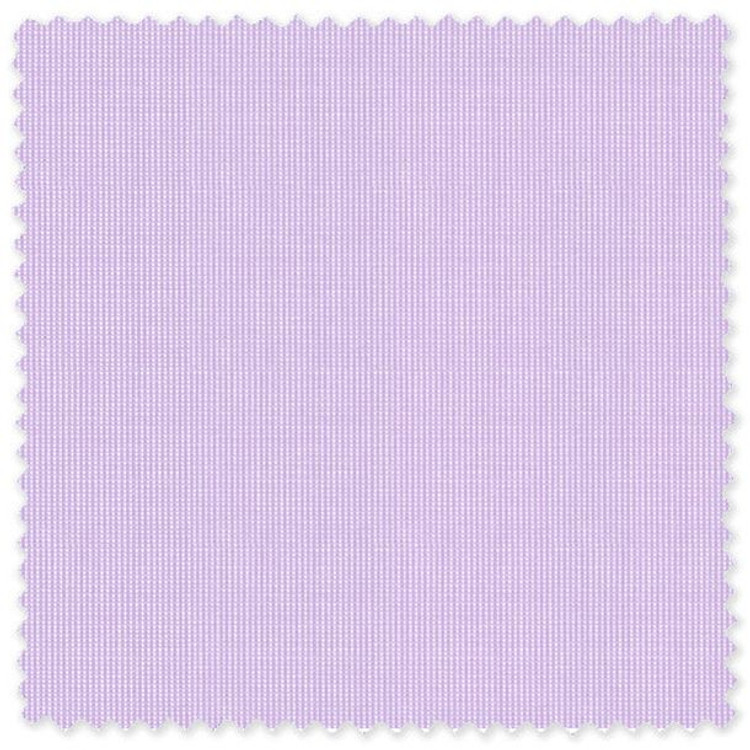 Lavender Pic/Pic 80's 2-Ply Cotton Broadcloth Custom Dress Shirt by Skip Gambert