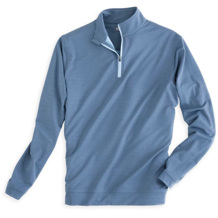 'Perth' Stretch Loop Terry Quarter-Zip Performance Pullover in Midnight by Peter Millar