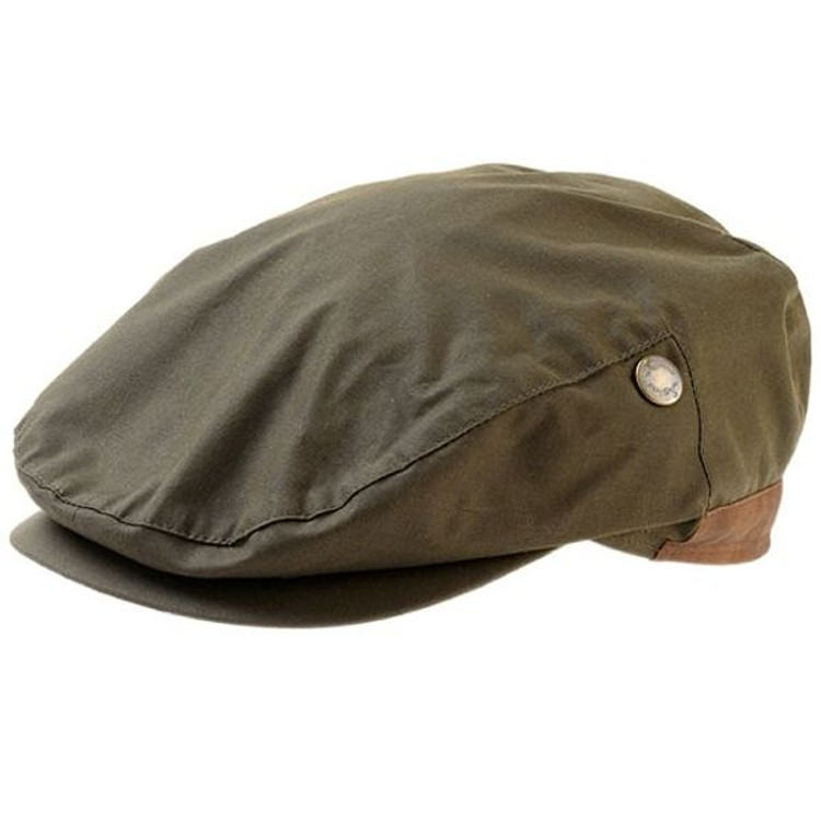 Wax Cotton Cap in Olive by Wigens