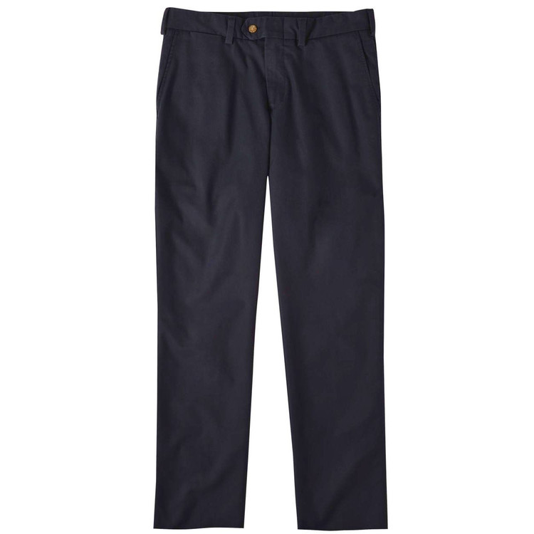 Travel Twill Pant - Model M3 Trim Fit Plain Front in Navy by Bills Khakis