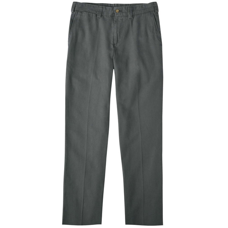Weathered Canvas Pant - Model M3 Trim Fit Plain Front in Charcoal by Bills Khakis
