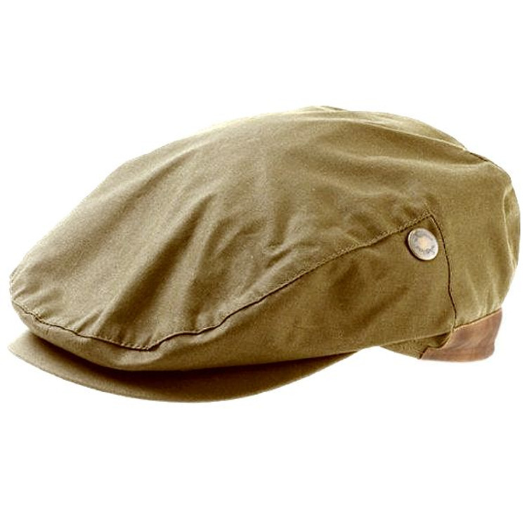 Wax Cotton Cap in British Tan (Szie 58) by Wigens