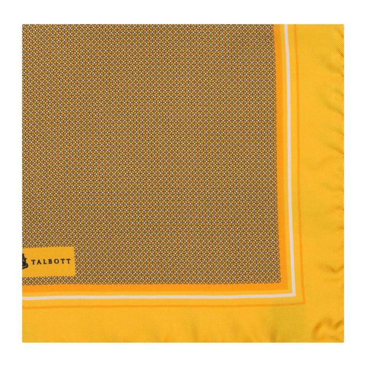 Spring 2017 Lemon Geometric Silk Pocket Square by Robert Talbott