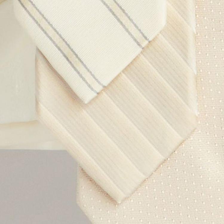 Spring 2017 Cream Shadow Stripe 'Robert Talbott Protocol' Hand Sewn Woven Silk Tie by Robert Talbott