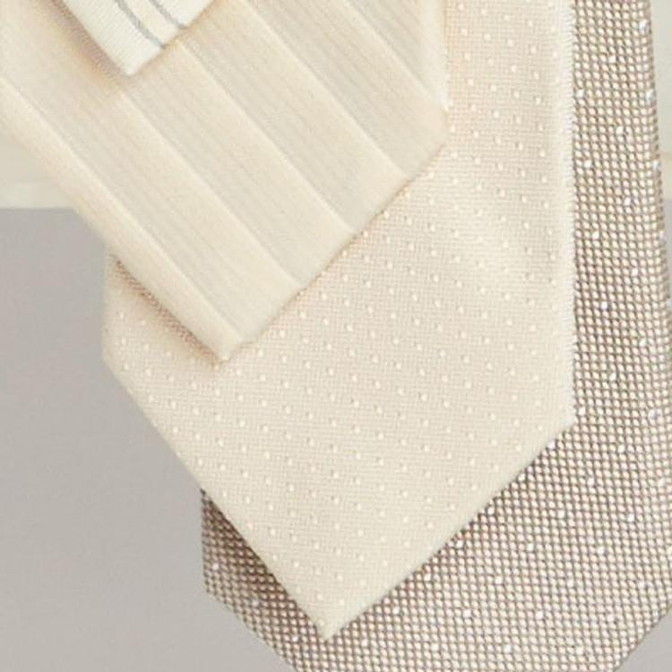 Spring 2017 Ecru Dot 'Robert Talbott Protocol' Hand Sewn Woven Silk Tie by Robert Talbott