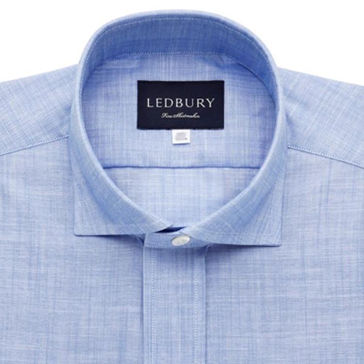 The Blue McDaniel Chambray Shirt (Size X-Large) by Ledbury