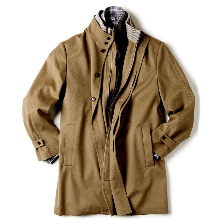 'Sebastian' Storm System® Car Coat with Zip-Out Wind Flap in Camel (Size XX-Large) by Peter Millar