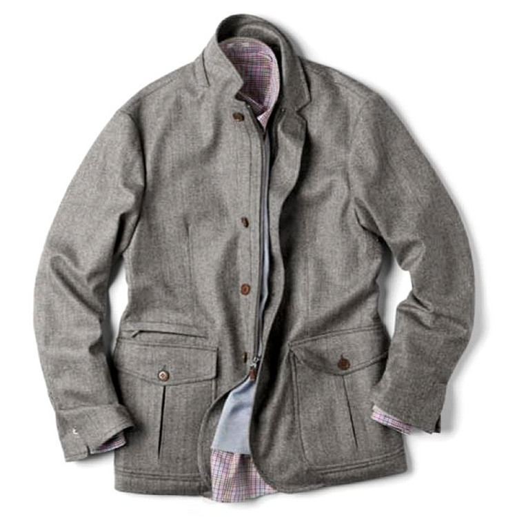 'Myers' Wool & Cashmere Storm System® Travelers Jacket in Charcoal Herringbone (Size X-Large) by Peter Millar