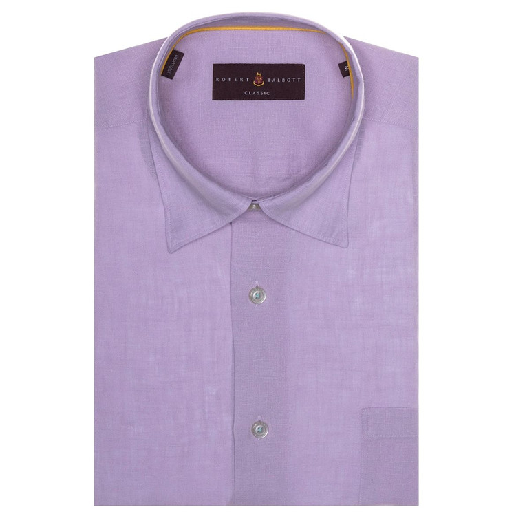 Spring 2017 Solid Lilac 'Anderson II' Linen Sport Shirt by Robert Talbott