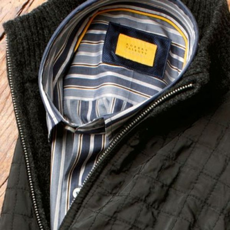 Charcoal Stripe Sport Shirt (Size X-Large) by Robert Talbott