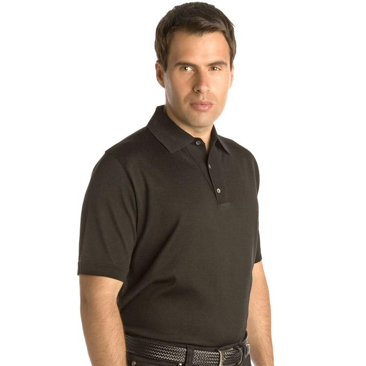 Avalon Style Fashion Placket Polo in Black (Size Medium) by St. Croix