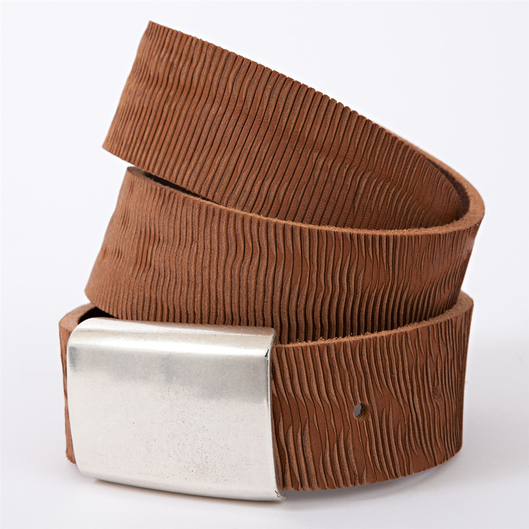 Laser Vegetable-Tanned Leather Belt in Cognac (Size 36) by Moore & Giles