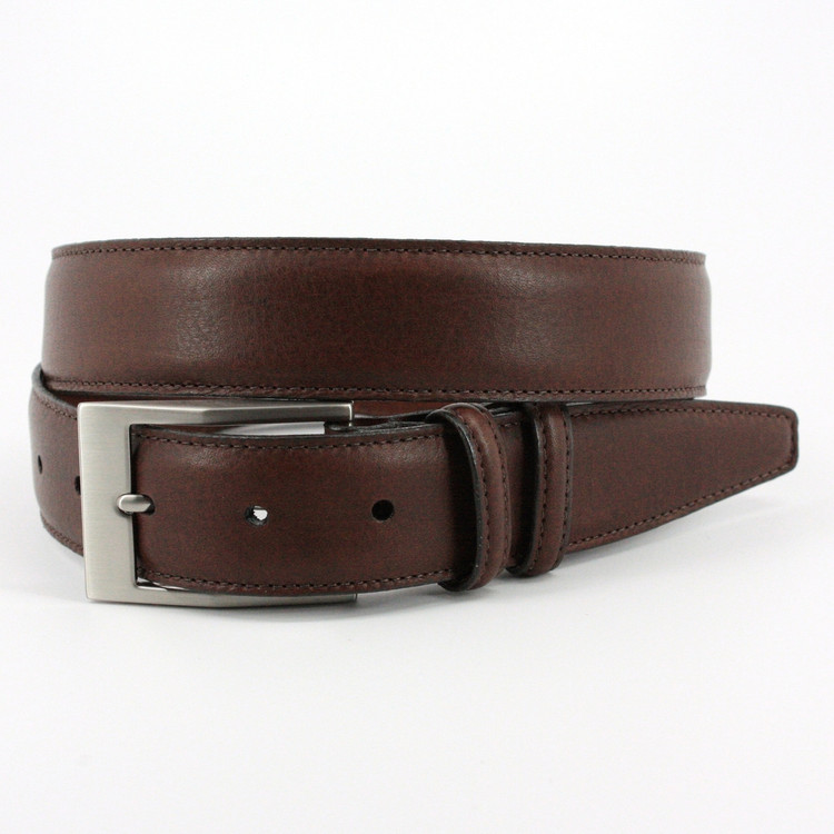 Soft Deertan Glove Leather Belt in Chestnut (EXTENDED SIZES) by Torino Leather Co.
