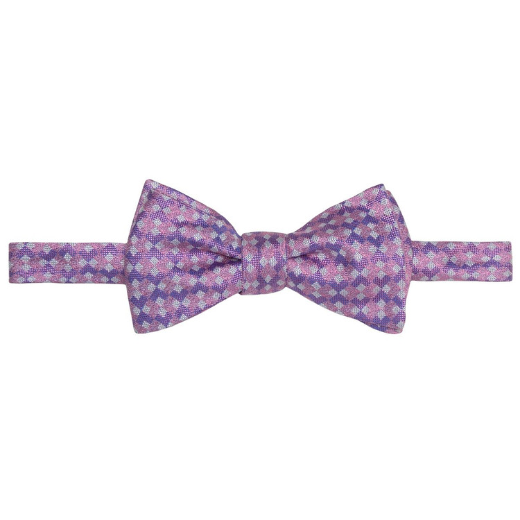 Spring 2017 Best of Class Pink and Purple 'Geometric' Hand Sewn Woven Silk Bow Tie by Robert Talbott