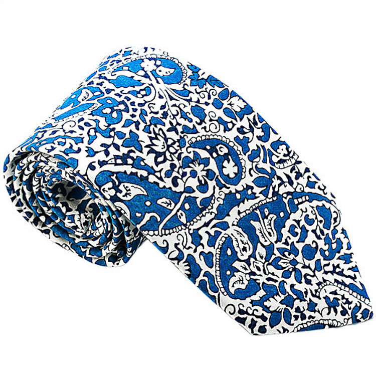 'Yorkshire' Floral Paisley Lawn Cotton Tie by Trumbull Rhodes