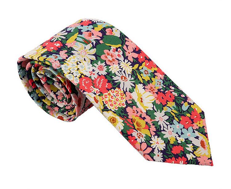 'Southhampton' Floral Lawn Cotton Tie by Trumbull Rhodes
