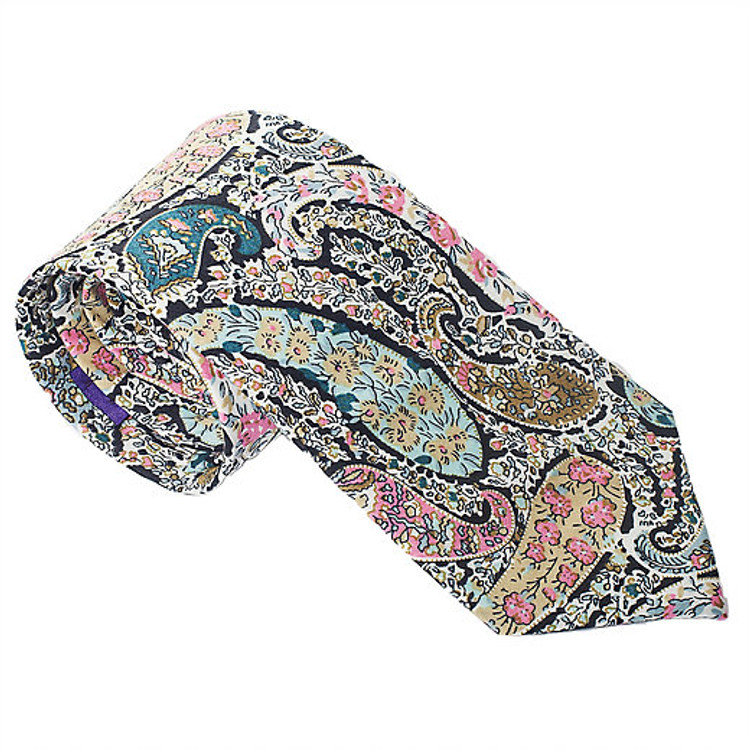 'Cotswold' Paisley Lawn Cotton Tie by Trumbull Rhodes