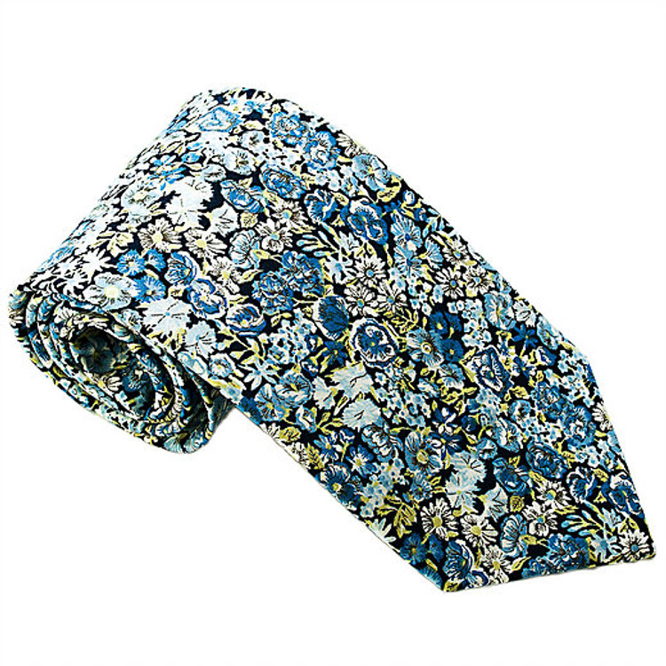 'Sussex' Floral Lawn Cotton Tie by Trumbull Rhodes