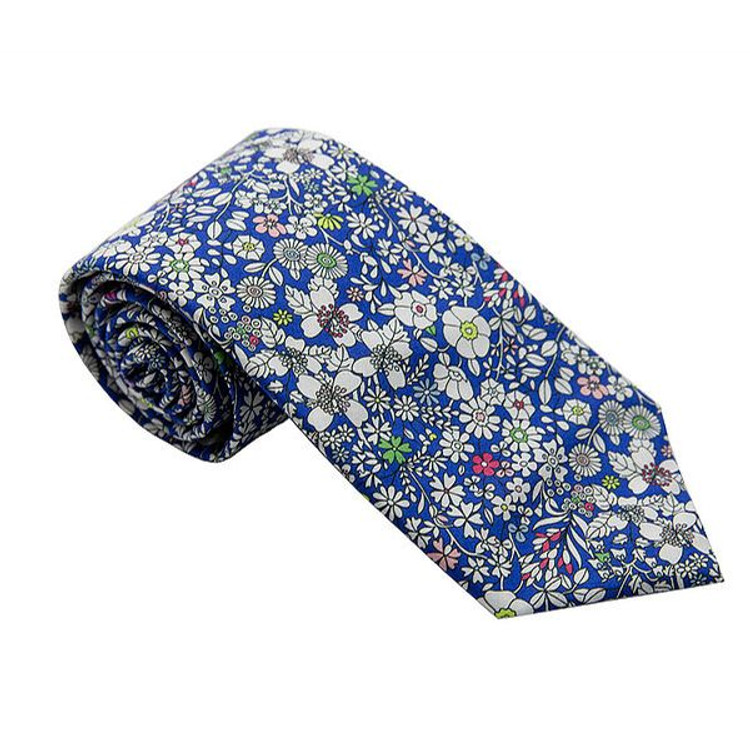 'Cowes' Floral Lawn Cotton Tie by Trumbull Rhodes