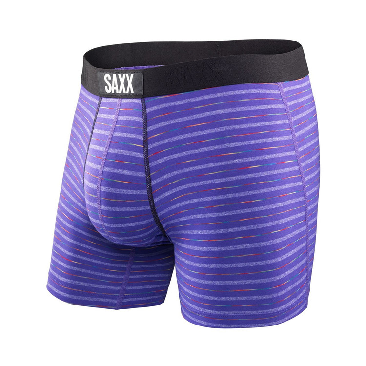Vibe Boxer Modern Fit in Purple Gradient Stripe by Saxx Underwear Co.