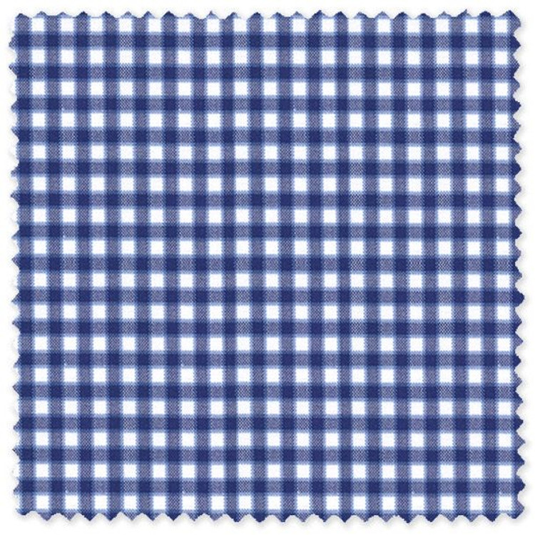 Blue Check Cotton Pinpoint Custom Dress Shirt by Skip Gambert
