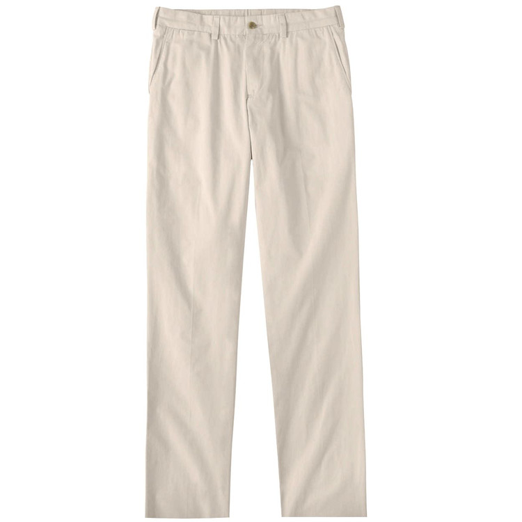 Tropical Poplin Pant - Model M3 Trim Fit Plain Front in Sand by Bills Khakis