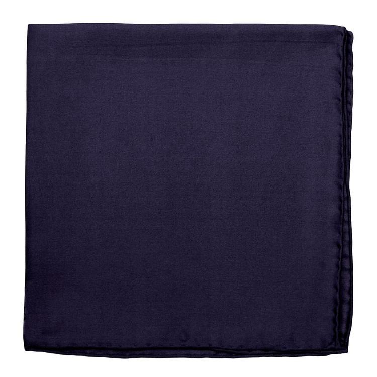 Solid Silk Pocket Square in Navy  by Robert Talbott