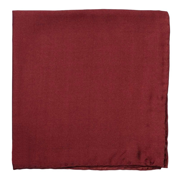 Solid Silk Pocket Square in Ruby by Robert Talbott