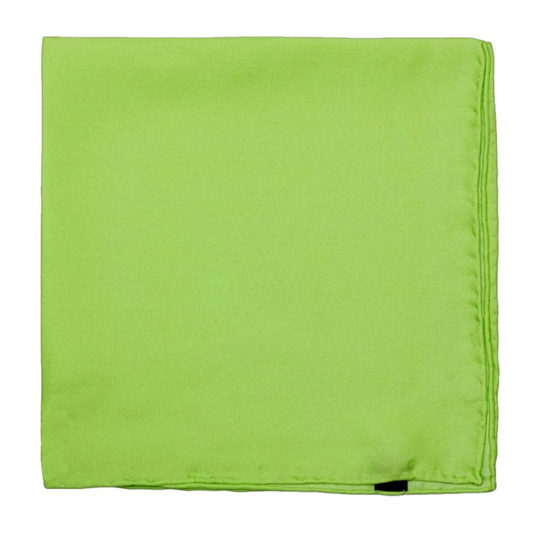 Solid Silk Pocket Square in Lime by Robert Talbott