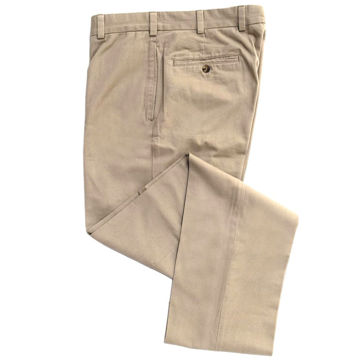 Travelers Twill Pant - Model F2 Standard Fit Plain Front in Fawn (Size 40 Only) by Hansen's Khakis