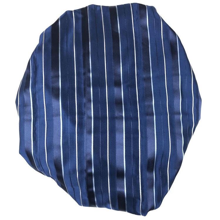 Custom Made Blue and Navy Stripe Best of Class Silk Tie by Robert Talbott