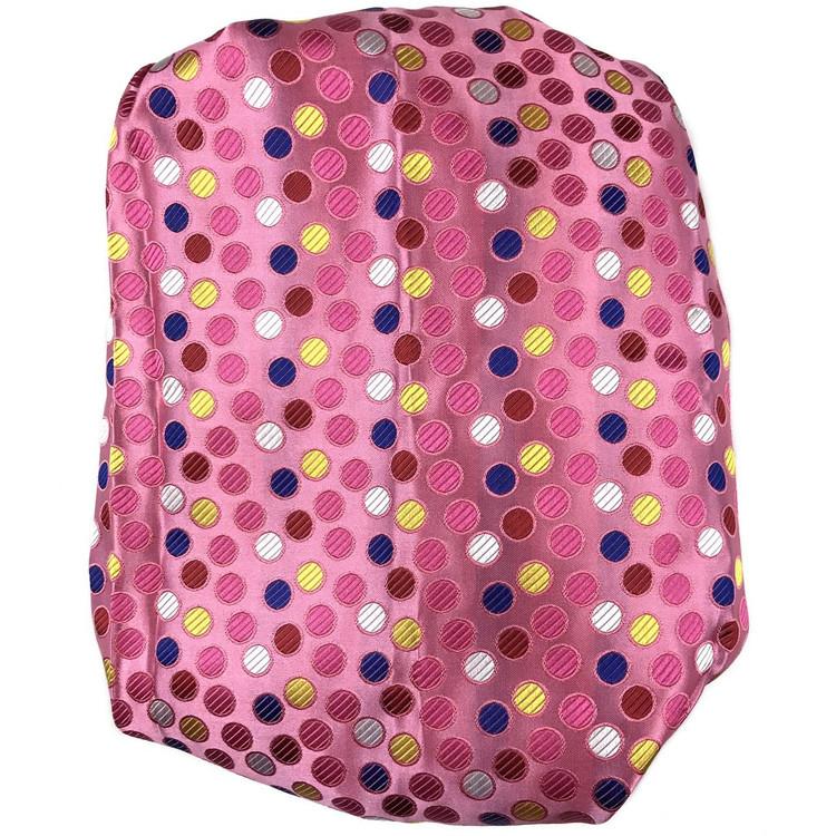 Custom Made Pink, Blue, and Red Dot Best of Class Silk Tie by Robert Talbott