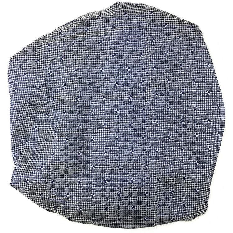Custom Made Navy and White Geometric Best of Class Silk Tie by Robert Talbott