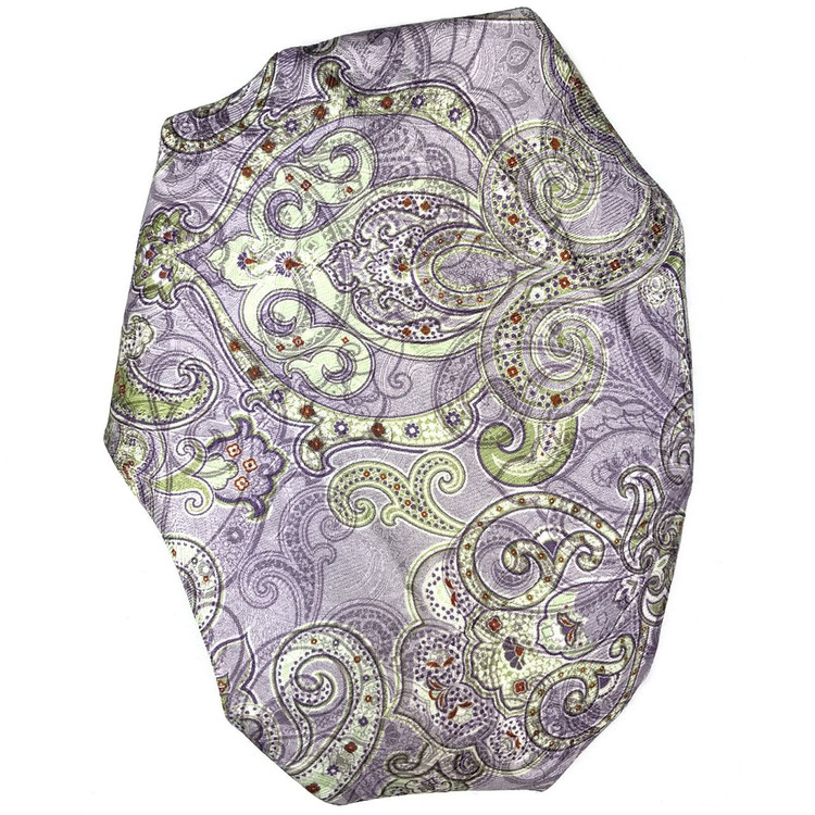 Custom Made Lilac and Green Paisley Best of Class Overprinted Silk Tie by Robert Talbott