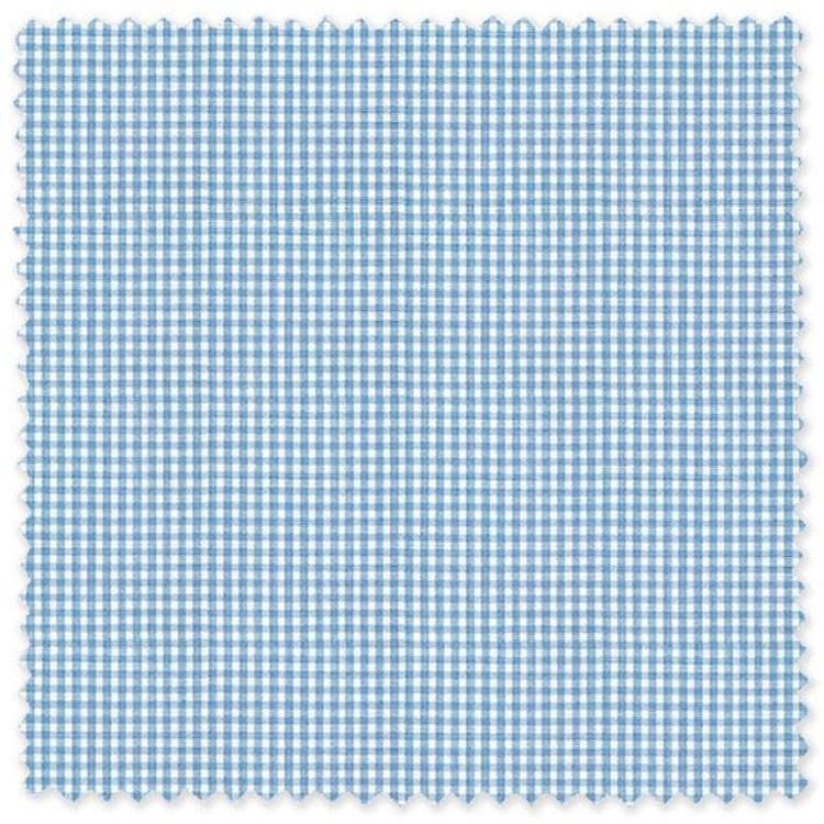 Aqua and White Check 'Classic 120's' Cotton Broadcloth Custom Dress Shirt by Skip Gambert
