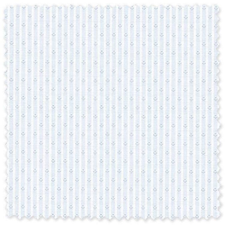 Light Blue Jacquard Stripe 'Classic 120's' Cotton Broadcloth Custom Dress Shirt by Skip Gambert