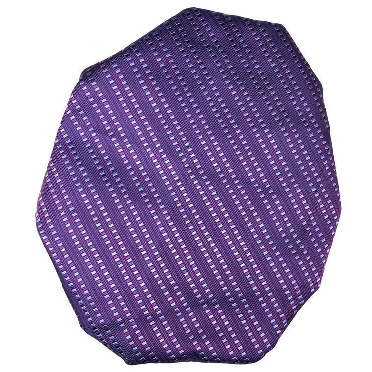 Custom Made Purple, Blue, and Navy Stripe Silk Estate Tie by Robert Talbott