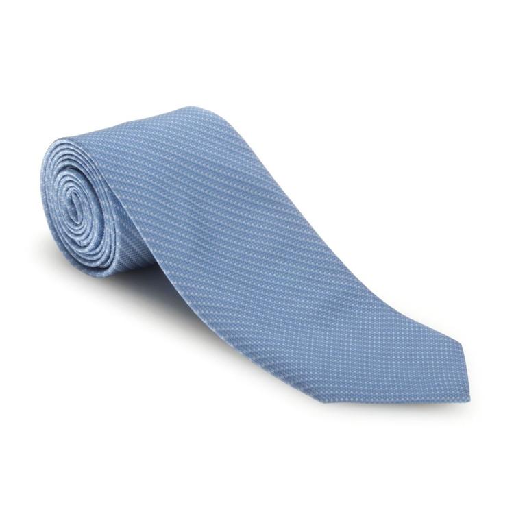 Spring 2017 Blue 'Robert Talbott Protocol' Hand Sewn Woven Silk Tie by Robert Talbott