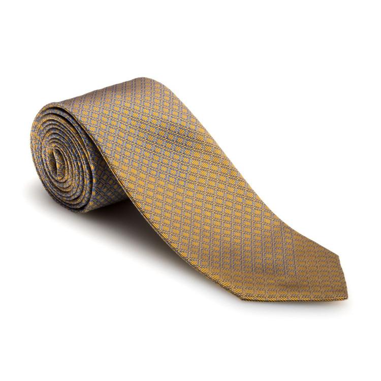 Spring 2017 Best of Class Gold and Blue Diamond 'Symmetry' Woven Silk Tie by Robert Talbott