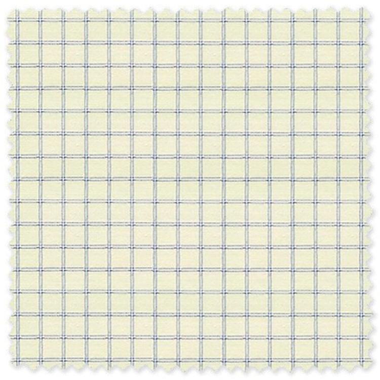 Blue Check on Yellow 'Classic 120's' Cotton Broadcloth Custom Dress Shirt  by Skip Gambert