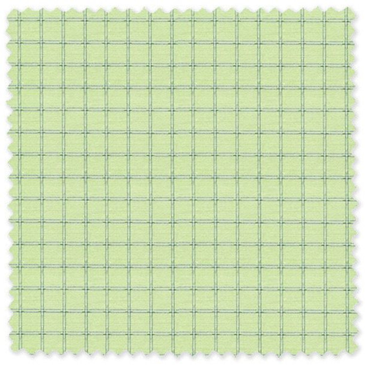 Blue Check on Green 'Classic 120's' Cotton Broadcloth Custom Dress Shirt  by Skip Gambert